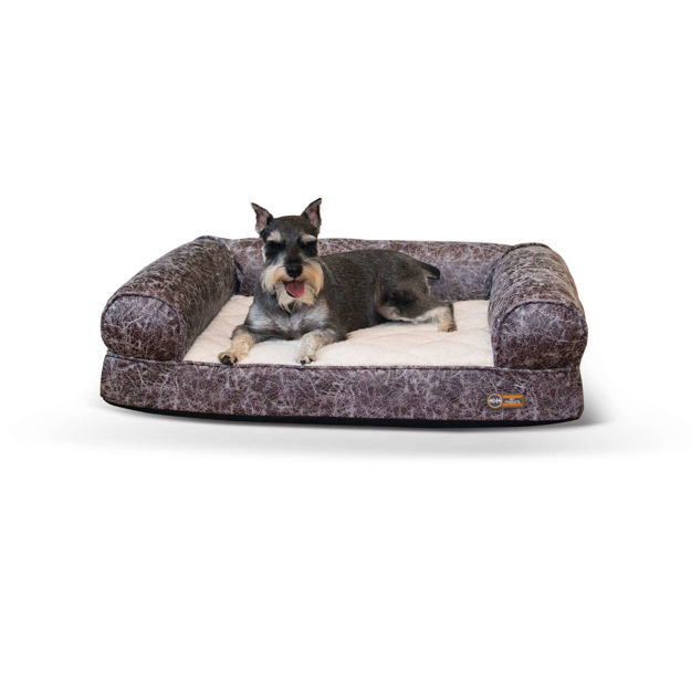 """Picture of K&H Pet Products Bomber Memory Dog Sofa Medium Gray 24"""" x 33"""" x 8.5"""""""