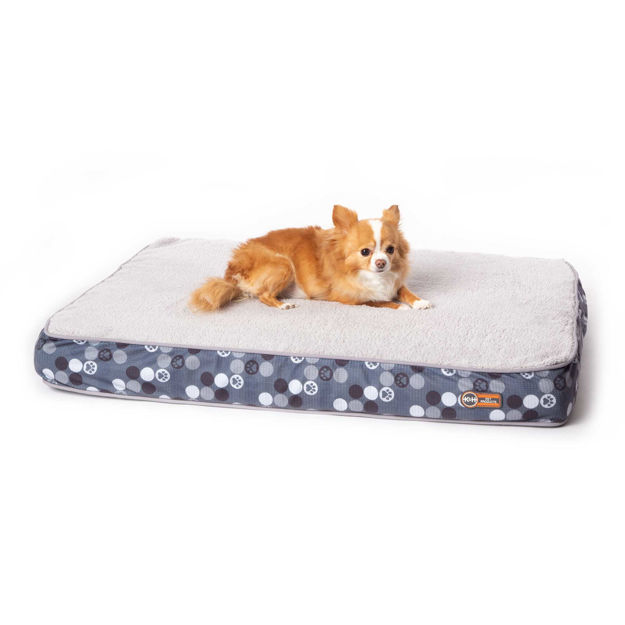 """Picture of K&H Pet Products Superior Orthopedic Dog Bed Small Gray 27"""" x 36"""" x 4"""""""