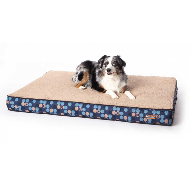 "K&H Pet Products Superior Orthopedic Dog Bed Large Navy Blue 35"" x 46"" x 4"""