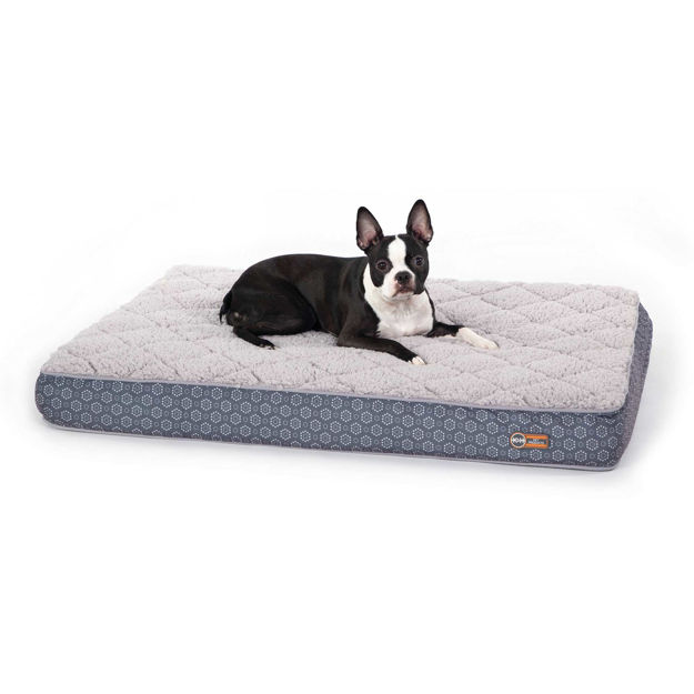 "K&H Pet Products Quilt-Top Superior Orthopedic Pet Bed Medium Gray 30"" x 40"" x 4"""