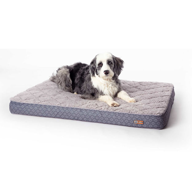 """Picture of K&H Pet Products Quilt-Top Superior Orthopedic Pet Bed Large Gray 35"""" x 46"""" x 4"""""""