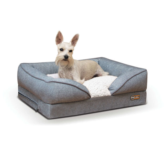 """Picture of K&H Pet Products Pillow-Top Orthopedic Pet Lounger Small Gray 18"""" x 24"""" x 8"""""""
