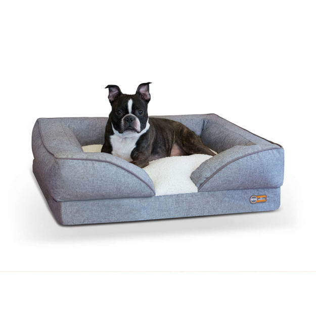 """Picture of K&H Pet Products Pillow-Top Orthopedic Pet Lounger Medium Gray 24"""" x 30"""" x 8.75"""""""