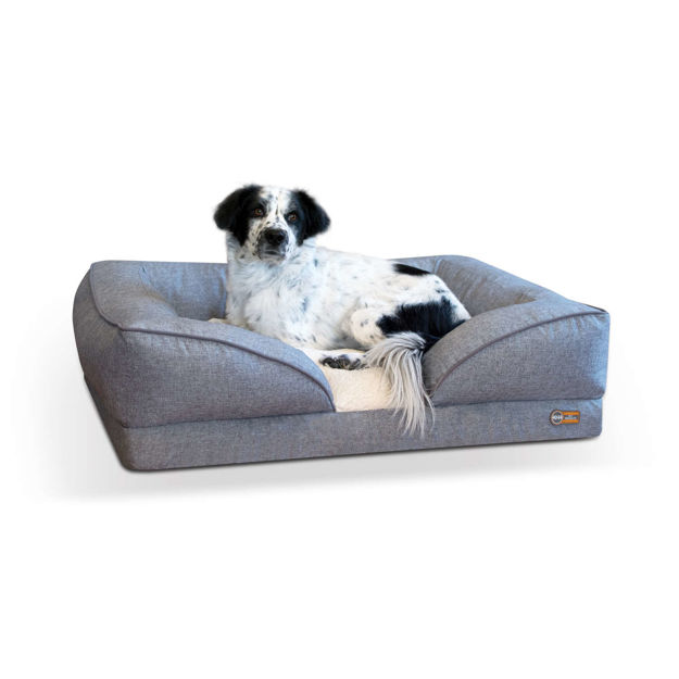 "Picture of K&H Pet Products Pillow-Top Orthopedic Pet Lounger Large Gray 28"" x 36"" x 9.5"""