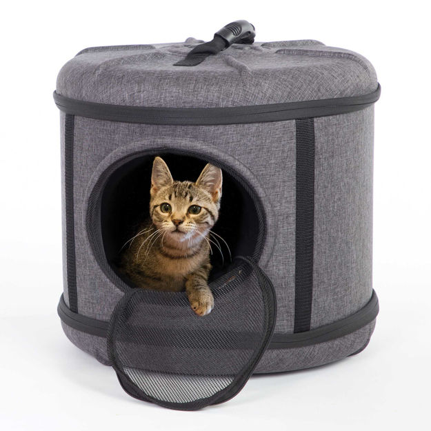 "K&H Pet Products Mod Capsule Pet Carrier and Shelter Gray 17"" x 17"" x 15.5"""