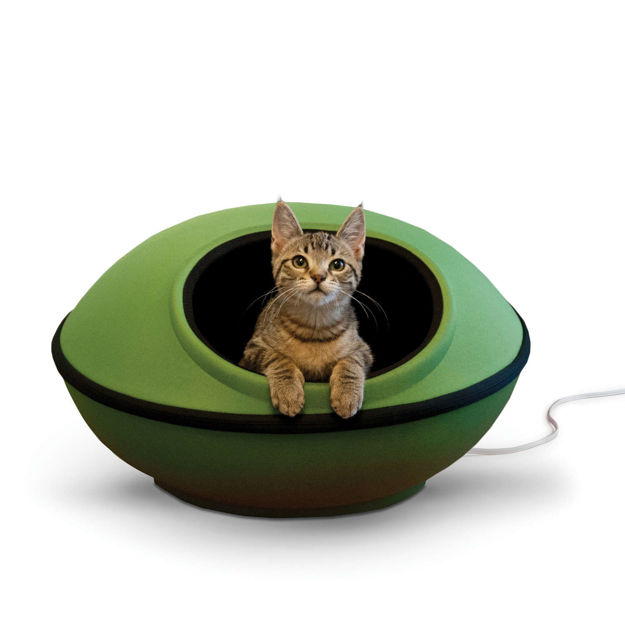 """K&H Pet Products Thermo-Mod Dream Pod Large Green/Black 22"""" x 22"""" x 11.5"""""""