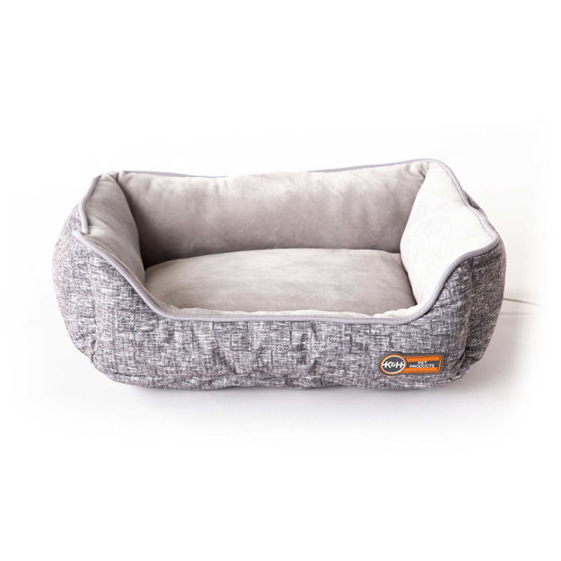 "Picture of K&H Pet Products Mother's Heartbeat Heated Kitty Pet Bed with Heart Pillow Gray 13"" x 11"" x 5.5"""