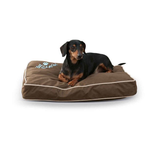 """K&H Pet Products Just Relaxin' Indoor/Outdoor Pet Bed Small Chocolate 18"""" x 26"""" x 3.5"""""""