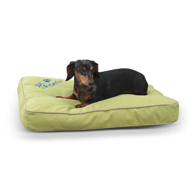 "Picture of K&H Pet Products Just Relaxin' Indoor/Outdoor Pet Bed Small Green 18"" x 26"" x 3.5"""