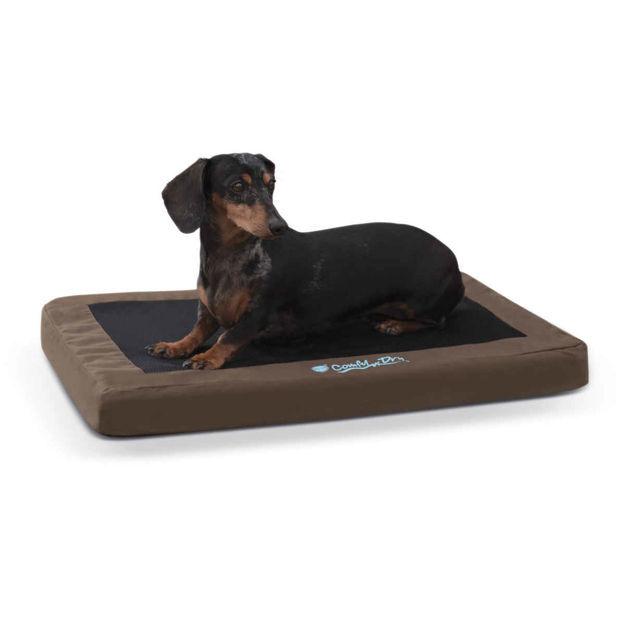 "K&H Pet Products Comfy n' Dry Indoor-Outdoor Pet Bed Medium Chocolate 28"" x 36"" x 2.5"""