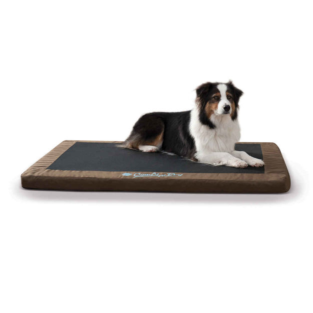 "Picture of K&H Pet Products Comfy n' Dry Indoor-Outdoor Pet Bed Large Chocolate 36"" x 48"" x 2.5"""
