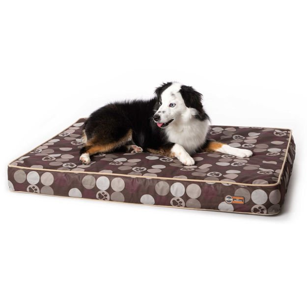 """Picture of K&H Pet Products Superior Orthopedic Indoor/Outdoor Bed Medium Brown 40"""" x 30"""" x 4"""""""