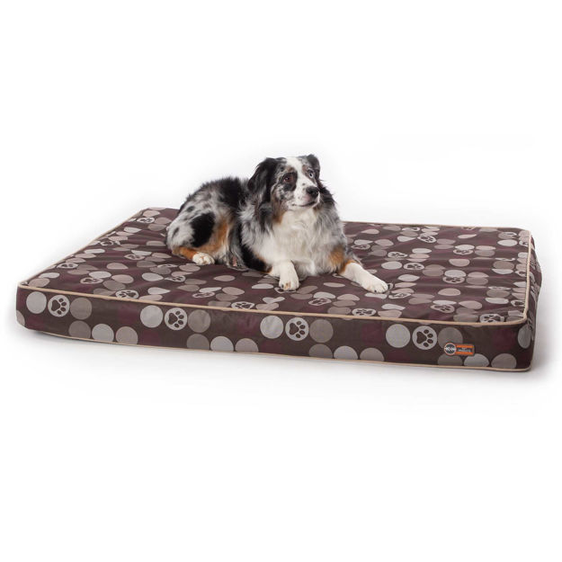 """Picture of K&H Pet Products Superior Orthopedic Indoor/Outdoor Bed Large Brown 46"""" x 35"""" x 4"""""""