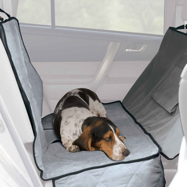 "K&H Pet Products Car Seat Saver Deluxe Extra Long Gray 57"" x 56"" x 0.25"""