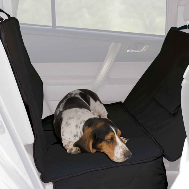 """K&H Pet Products Car Seat Saver Deluxe Extra Long Black 57"""" x 56"""" x 0.25"""""""
