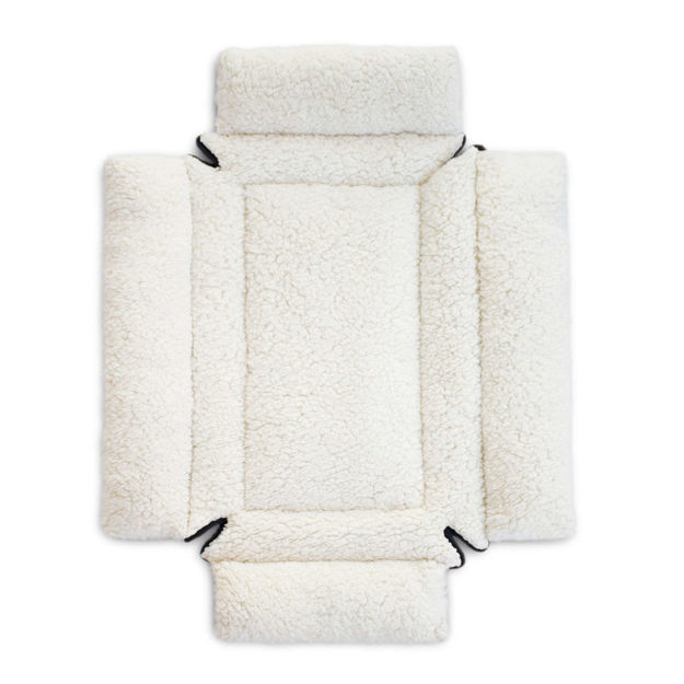"""Picture of K&H Pet Products Deluxe Bolster Dog Crate Pad Extra Small Natural 14"""" x 22"""" x 3.5"""""""
