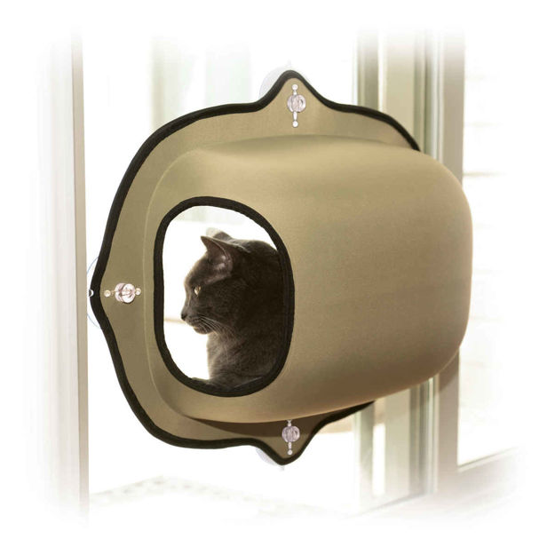 "Picture of K&H Pet Products EZ Mount Window Pod Kitty Sill Tan 27"" x 20"" x 20"""