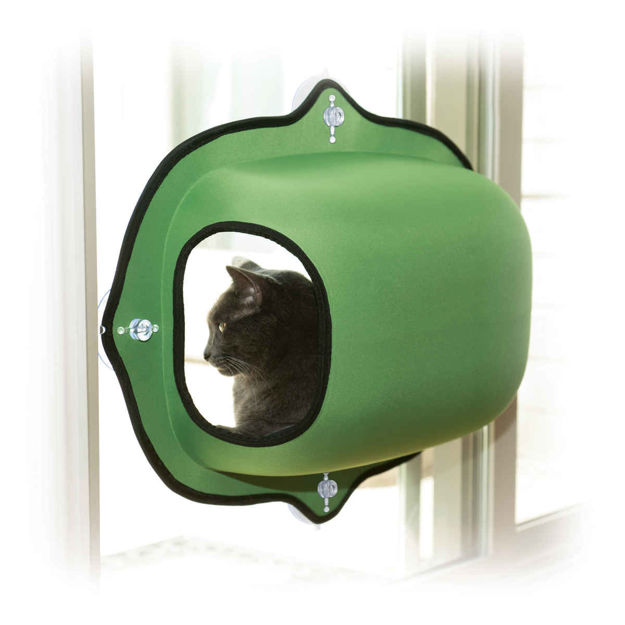 """Picture of K&H Pet Products EZ Mount Window Pod Kitty Sill Green 27"""" x 20"""" x 20"""""""