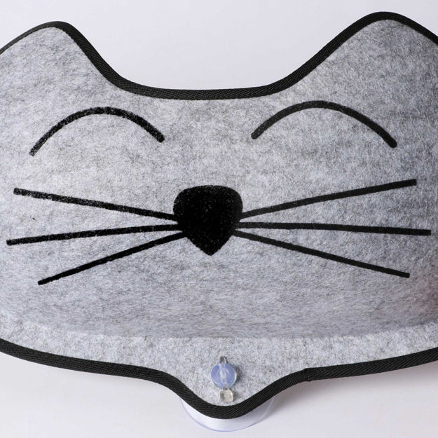 """Picture of K&H Pet Products EZ Mount Kittyface Window Bed Gray 27"""" x 8"""" x 11"""""""