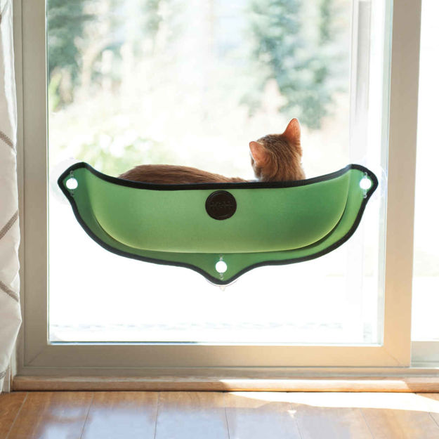 """Picture of K&H Pet Products EZ Mount Window Bed Kitty Sill Green 27"""" x 11"""" x 10.5"""""""
