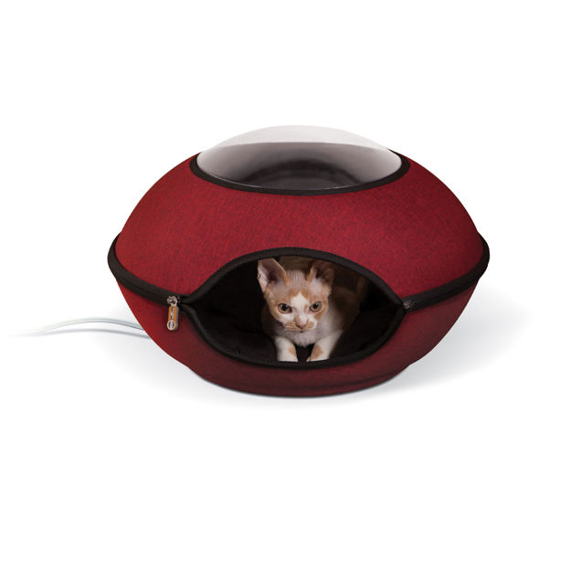 """Picture of K&H Pet Products Thermo-Lookout Cat Pod Red 21"""" x 21"""" x 7.5"""""""