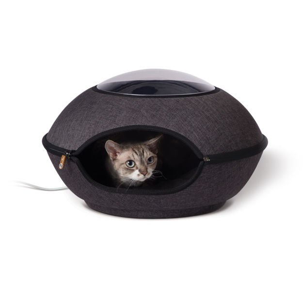 "Picture of K&H Pet Products Thermo-Lookout Cat Pod Gray 21"" x 21"" x 7.5"""