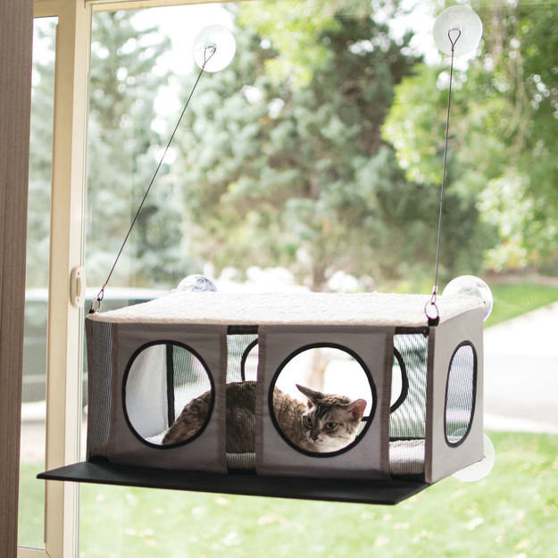 "K&H Pet Products EZ Mount Cat Penthouse Gray / Black 23"" x 19"" x 9.5"""