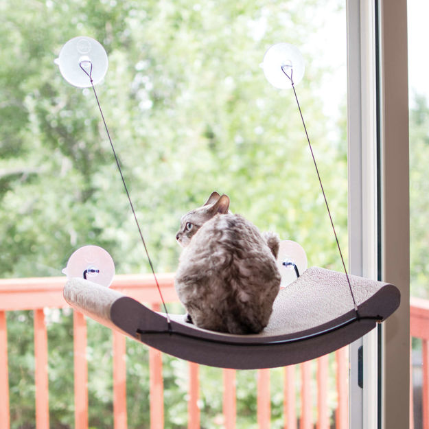 """Picture of K&H Pet Products EZ Mount Cat Scratcher Kitty Sill Cradle Tan 11"""" x 20"""" x 2"""""""