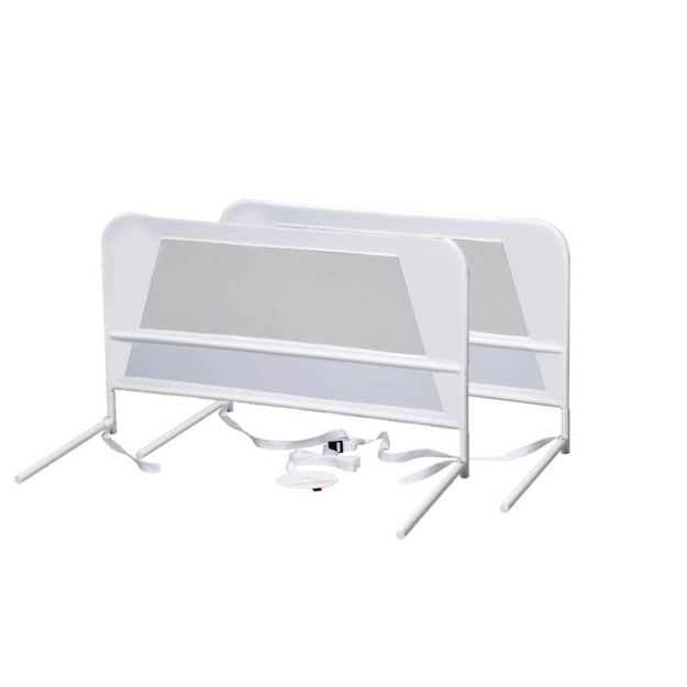 Picture of Kidco Children's Mesh Bed Rail Telescopic Double Pack White