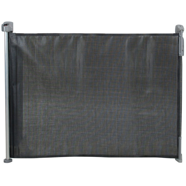 """Picture of Kidco Retractable Safeway Mesh Mounted Gate Black 55"""" x 1"""" x 33.5"""""""