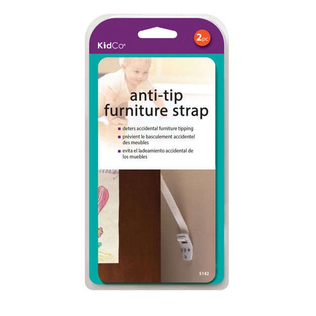 Kidco Anti-Tip Furniture Straps 2 pack White