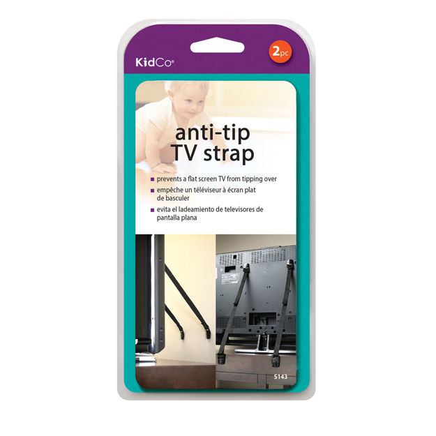 Kidco Anti-Tip TV Straps 2 pack Black