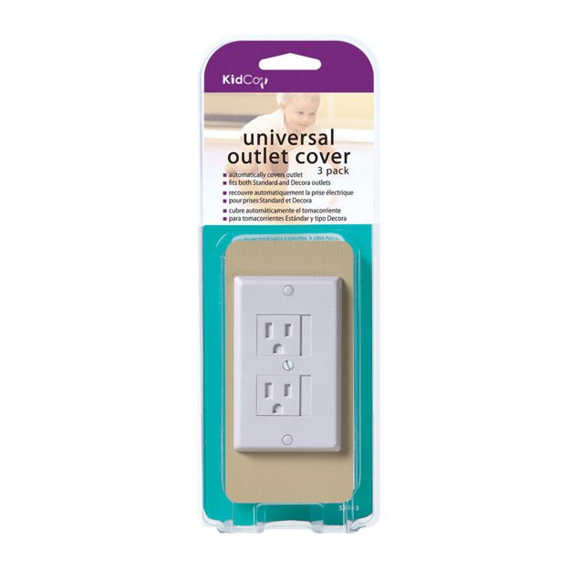 Kidco Universal Outlet Cover 3 pack White