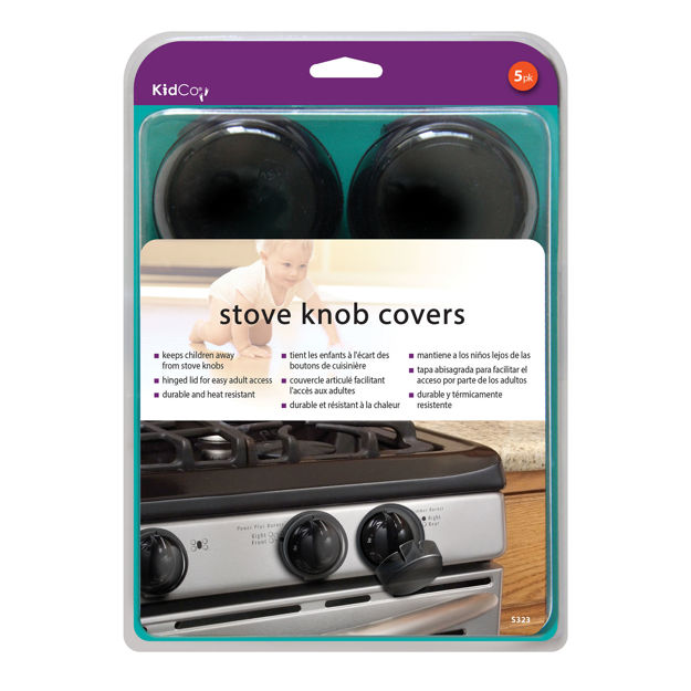 Picture of Kidco Stove Knob Covers 5 pack Black