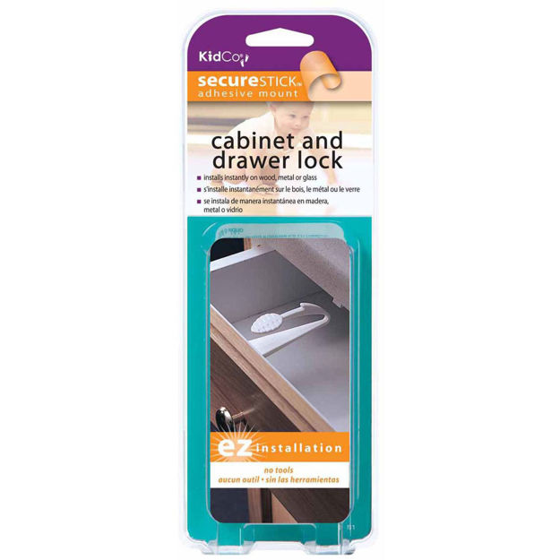 Picture of Kidco Adhesive Mount Cabinet and Drawer Lock 3 pack White