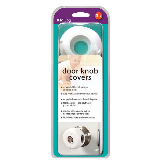 Picture of Kidco Door Knob Covers 3 pack White