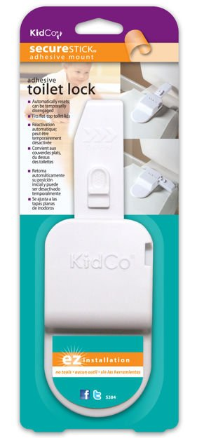 Picture of Kidco Adhesive Toilet Lock White
