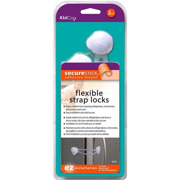 Picture of Kidco Flexible Strap Lock 2 pack White