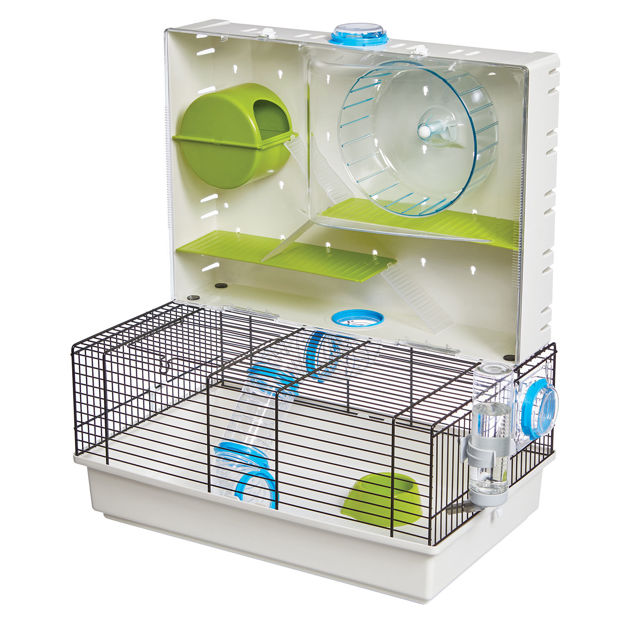 """Picture of Midwest Critterville Arcade Hamster Home Clear, Green, Blue 18.11"""" x 11.61"""" x 21.26"""""""