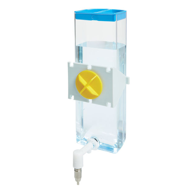 "Midwest Critterville Water Bottle Medium Clear, Blue 3.27"" x 2.32"" x 6.62"""