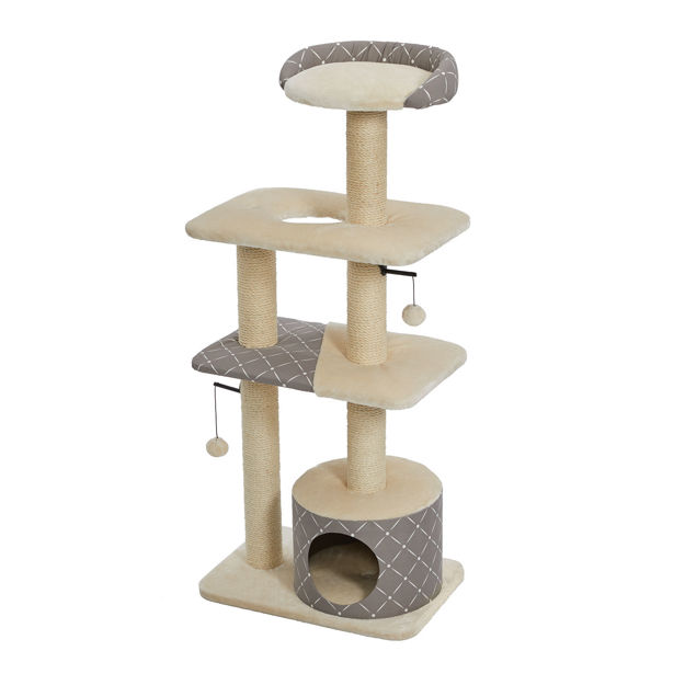 """Picture of Midwest Feline Nuvo Tower Car Furniture Mushroom 22"""" x 15"""" x 50.5"""""""