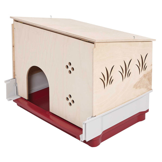 """Picture of Midwest Wabbitat Deluxe Rabbit Home Wood Hutch Extension Wood 37"""" x 19"""" x 20"""""""