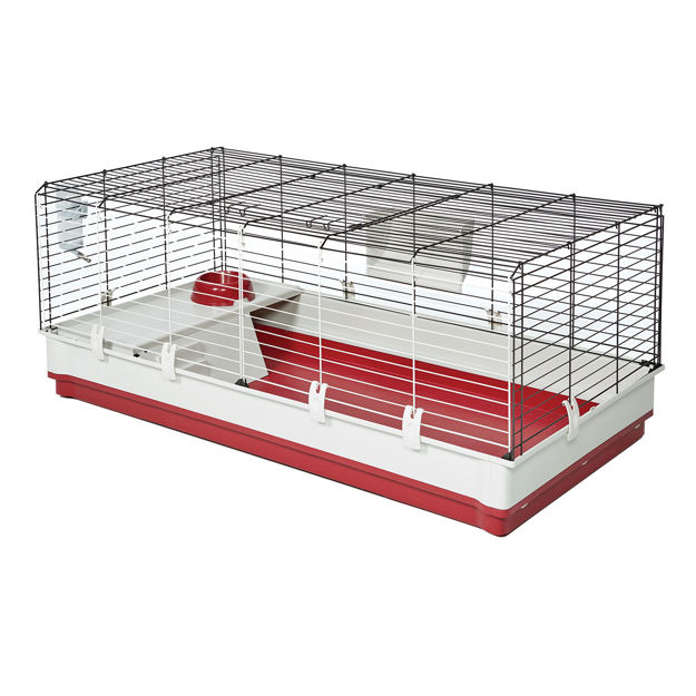 """Midwest Wabbitat Deluxe Extra Long Rabbit Home White, Red 47.24"""" x 23.62"""" x 19.68"""""""
