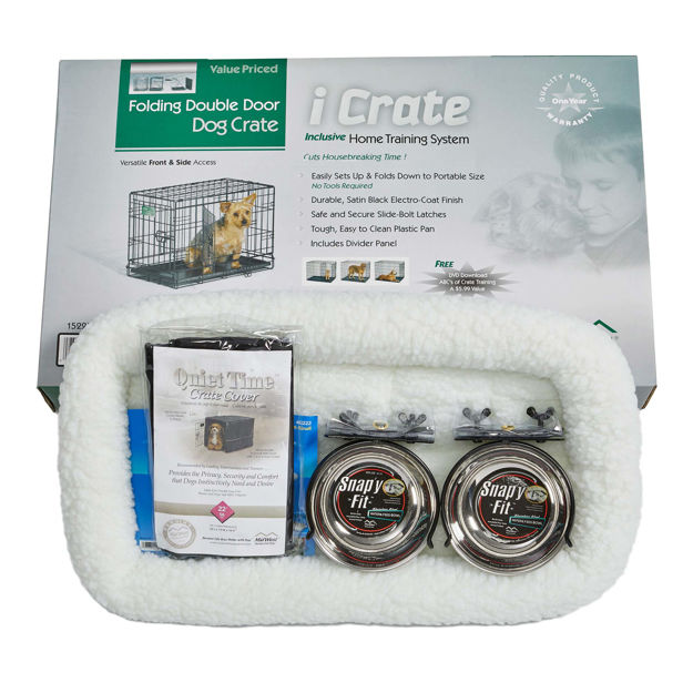 """Picture of Midwest iCrate Dog Crate Kit Extra Small 22"""" x 13"""" x 16"""""""