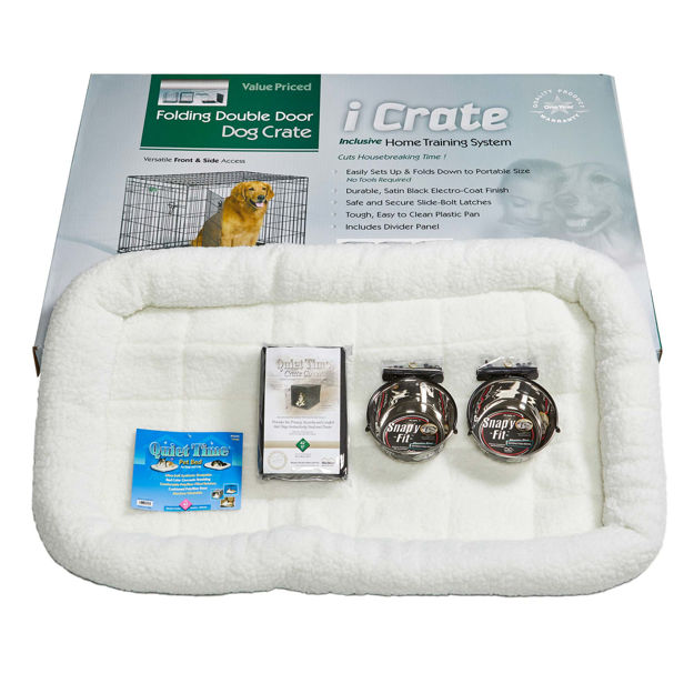 """Picture of Midwest iCrate Dog Crate Kit Extra Large 42"""" x 28"""" x 30"""""""