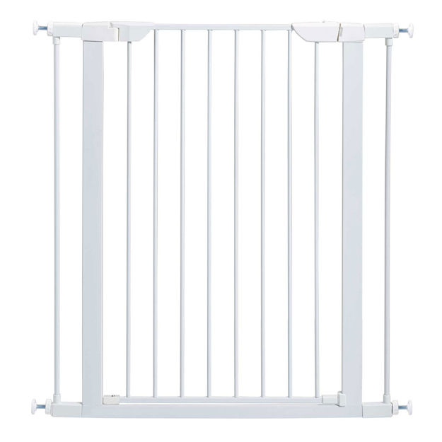 """Picture of Midwest Glow in the Dark Steel Pressue Mount Pet Gate Tall White 29.5"""" - 38"""" x 1"""" x 29.88"""""""