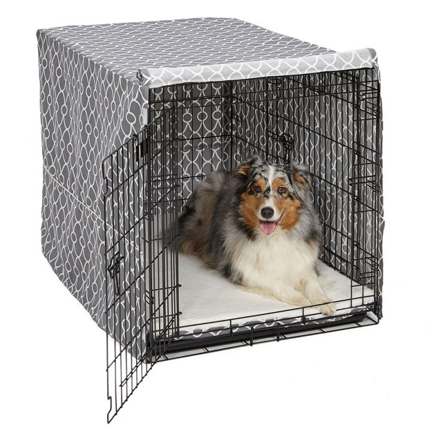"Picture of Midwest QuietTime Defender Covella Dog Crate Cover Gray 48"" x 30"" x 33"""