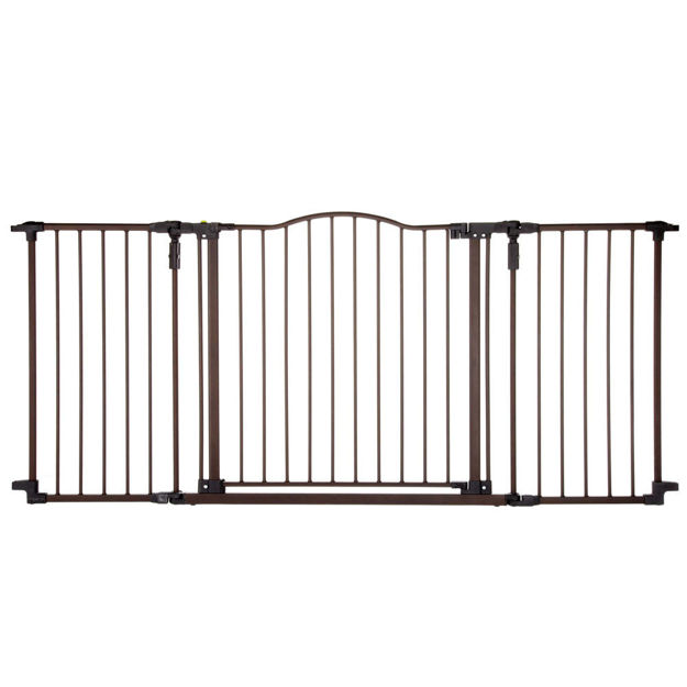 """Picture of North States Deluxe Décor Wall Mounted Pet Gate Medium Matte Bronze 38.3"""" - 72"""" x 30"""""""