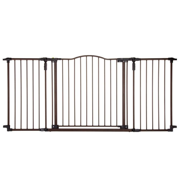 "North States Deluxe Décor Wall Mounted Pet Gate Medium Matte Bronze 38.3"" - 72"" x 30"""