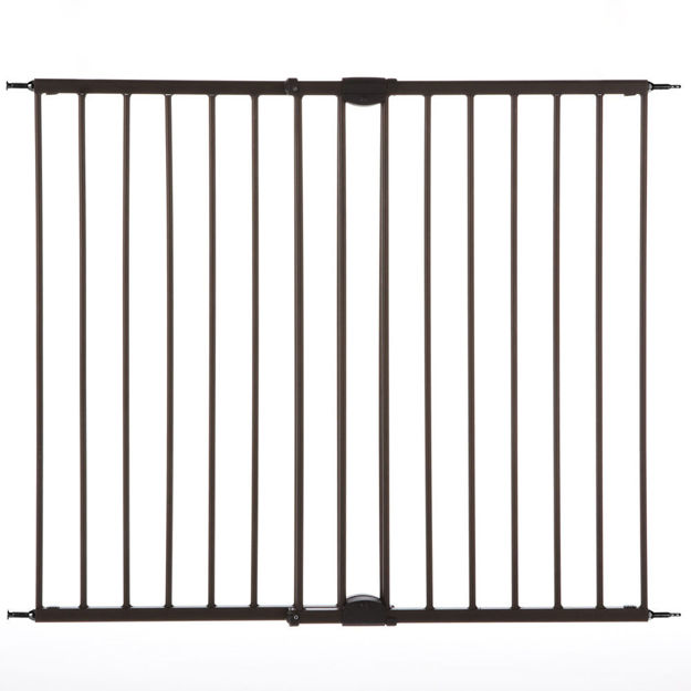 """North States Easy Swing and Lock Wall Mounted Pet Gate Matte Bronze 28"""" - 48""""  x 31"""""""